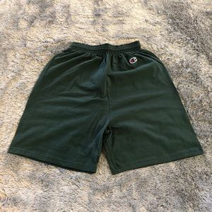 Champion Cotton Shorts - Forest Green